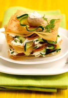 Filoteig-Zucchini-Lasagne