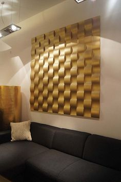 Architecture Wall Technology -gold 3D wall panel