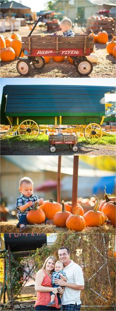 pumpkin patch first birthday family pictures cake smash birthday photos - green vintage photography - www.greenvintagephotography.com
