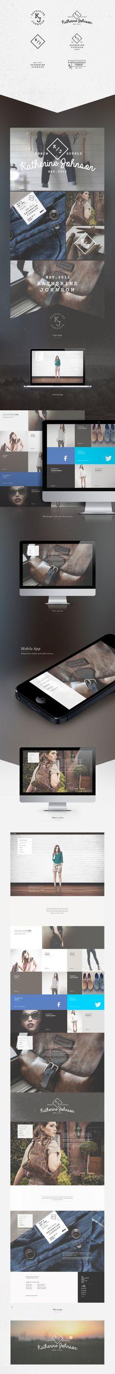 Katherine Johnson Website #webdesign