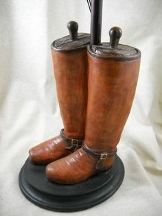 $79 Great for Dad!  Riding Boots Lamp with Shade Equestrian Foxhunt Equine