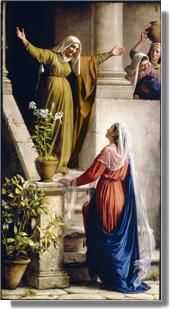 Mary Visits Elizabeth Luke 1:41-43 And it came to pass, that, when Elisabeth heard the salutation of Mary, the Babe leaped in her womb; and Elisabeth was filled with the Holy Ghost: 42 And she spake out with a loud voice, and said, Blessed art thou among women, and blessed is the fruit of thy womb. 43 And whence is this to me, that the mother of my Lord should come to me? Luke 1:46-47 And Mary said, My soul doth magnify the Lord, 47 And my spirit hath rejoiced in God my Saviour