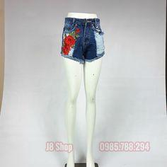 🌺 🌺 🌺 Quần Short Lưng Cao Thêu Hoa Hồng 🌺 🌺 🌺- Lưng cao- Thêu hoa ồngrất đẹp- Chất liệu cotton- Size S M L- Giá 110k 📞 0985.788.294