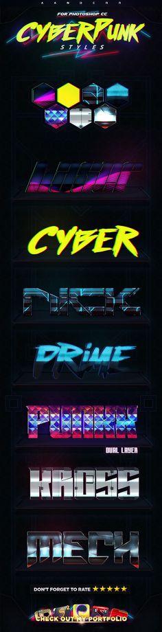 Cyberpunk Styles - Styles Photoshop