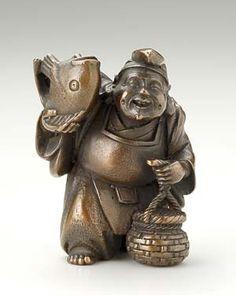 吉兆恵比寿 青銅製香炉