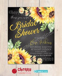 Bridal Shower Invitation/ Bridal Tea by CherryModernPrintsDS