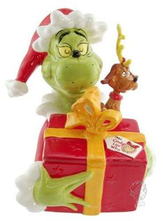 Seuss How The Grinch Stole Christmas Cookie Jar Grinch Cookies, Cute Christmas Cookies, Disney Cookies, Christmas Jars, Cute Cookies, Yummy Cookies, Christmas Kitchen, Vintage Christmas, Teapot Cookies