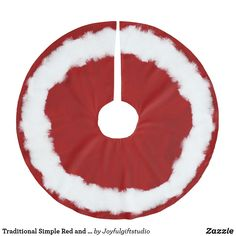 Shop Traditional Simple Red and White Classic Brushed Polyester Tree Skirt created by Joyfulgiftstudio. White Tree Skirt, Beautiful Christmas Trees, Red Design, Christmas Decorations, Holiday Decor, Red Christmas, Traditional Design, Tree Skirts, Red And White