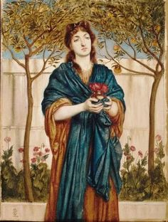 Simeon Solomon, English Pre-Raphaelite Painter, 1840-1905 Priestess Offering Poppies