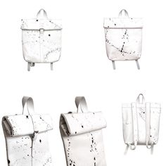 THE COLLECTION - Rollitbags Polino Spattered White - Now available at www.meesdesign.nl  #mees #handmade #leatherbags #rollitbag #ladies #men #backpack #bags #instafashion #design #leatherbags #conceptstore #ootd #premierevision #fashion #store #pittiuomo #clothing #minimal #highsnobiety #onlineshopping #fashionadict #tradeshow #fashionblogger #fashionweek #capsuleshow #seekberlin #whitetradeshow #agendashow #libertyfairs #tranoi Backpack Bags, Fashion Backpack, White Now, Leather Bag, Minimal, Ootd, Backpacks, Store, Clothing