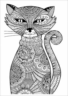 Adult Coloring Pages Cats . 30 Beautiful Adult Coloring Pages Cats . Coloring Cat Adult Coloring Book Amazing Realistic Page Cat Coloring Page, Animal Coloring Pages, Coloring Book Pages, Coloring Sheets, Fairy Coloring, Mandala Coloring, Mandalas Drawing, Zentangles, Zentangle