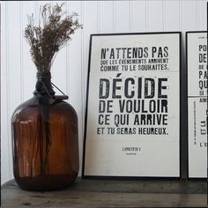 Les Brumes love old bottles - and the quote