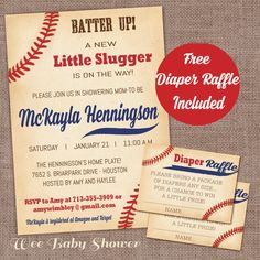 Hey, I found this really awesome Etsy listing at https://www.etsy.com/listing/264252668/baseball-baby-shower-invitation-with