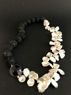 Lava, Pearl Necklace, Pearls, Jewelry, Design, Jewlery, Jewels, Beads, Pearl Necklaces