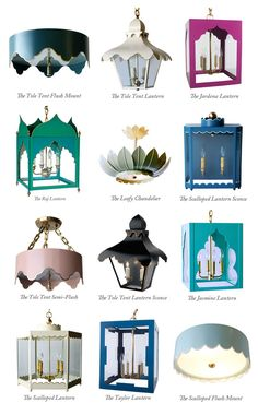 Coleen & Company Lighting through Neal & Co.  Think of places for lighting with such personality!
