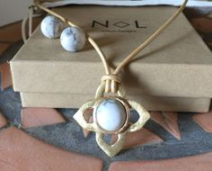 Artisan Designed Handmade Snowflake Obsidian Necklace & Earring Set  | eBay