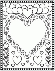valentine hearts blank coloring pages printable and coloring book to print for free. Find more coloring pages online for kids and adults of valentine hearts blank coloring pages to print. Blank Coloring Pages, Valentine Coloring Pages, Heart Coloring Pages, Printable Coloring Pages, Free Coloring, Coloring Books, Valentines Art, Valentines Day Activities, Valentine Day Gifts