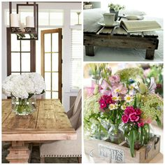 Ten Rustic Home Décor Touches - Rustic décor combines earthy and glamorous elements to create a chic, one of a kind look. Distressed wood, nature, and neutrals…