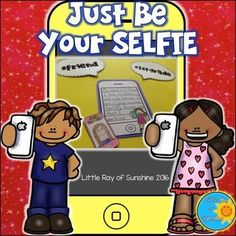 Okay, lets admit it.  All of us have taken a selfie or two (or three) over the years.  Now, you can take this phenonmenon and use it in class as a fun writing activity.  Students can write about themselves or themselfies, on the lined paper and then use t