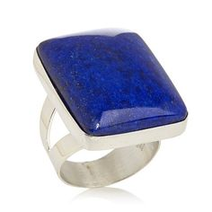Jay King Blue Lapis Bold Sterling Silver Ring
