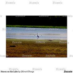 Heron on the Lake Poster