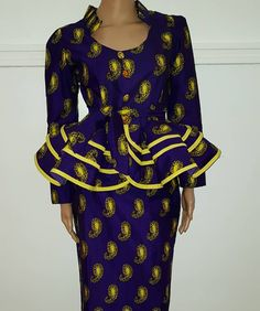 Modern Long Ankara Skirt And Blouse Styles Latest African Fashion Dresses, African Print Dresses, African Print Fashion, Africa Fashion, African Dress, Women's Fashion Dresses, Fashion Blouses, African Attire, African Wear