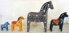 Ann Granlund textiltryck: Mitt stall