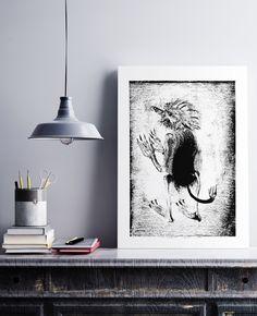 Black And White Prints, Irish Art, Folklore, Printmaking, Fairy Tales, Batman, Art Prints, Studio, Create