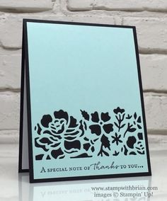 Floral Phrases, Detailed Floral Thinlits, Stampin' Up!, Brian King