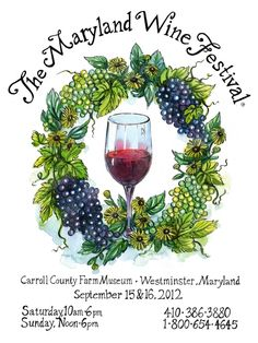 Maryland Wine Festival poster | Joanna Barnum I love the graphics on this poster.