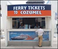 Cozumel Ferry Booth