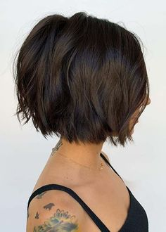 Have a look on best styles of short bob haircuts with textured look in year You know a bob is one of the best bob cuts since last many years. Just beacause of its bold look it is much liked haircut. Modern Bob Haircut, Modern Bob Hairstyles, Best Bob Haircuts, Girls Short Haircuts, Bob Haircuts For Women, Cool Short Hairstyles, Short Hair Cuts For Women Bob, Short Textured Haircuts, Short Textured Bob