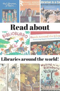 Unique Libraries Around the World- Check out these children's books about really unique libraries around the world. Sometimes books are delivered via burro or camel or boat. Some librarians have to fight to save their libraries and books from being damage Kids Around The World, Around The Worlds, Mobile Library, Reading Stories, Story Of The World, Preschool Books, Fiction And Nonfiction, Library Card, Chapter Books