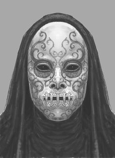 king-in-yellow:  xombiedirge:  Harry Potter Concept Art: Death Eaters by Rob Bliss  sweet mother of god  My next Faceless in AW.