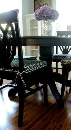 Living In The Rain Garden: Dining Room Chair Cushion Slipcover Tutorial
