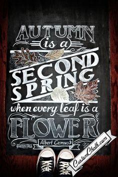 Chalkboard art: Autumn/fall idea