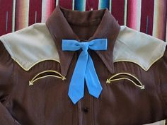 Brown w/ tan yokes & cuffs w/ pale yellow piping, enamel snaps Vintage Western Wear, Vintage Cowgirl, Western Wear For Women, Vintage Ladies, Rodeo Chic, Pendleton Shirts, Cowgirl Outfits, Etsy Uk, Western Shirts