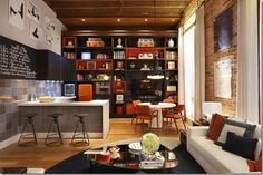 Love the whole look of this loft!