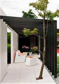 We create beautiful garden living spaces, for a concept fee never greater than Balcony Design, Garden Design, House Design, Pergola Curtains, Outdoor Spaces, Outdoor Decor, Covered Pergola, Garden Living, Outdoor Fire