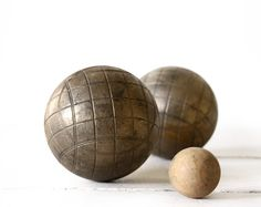 Vintage French Bronze BOULES de PETANQUE set