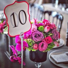Pink flower arrangements for weddings by KM Events #kmevents #weddingideas # weddinginspirations # weddings #pink
