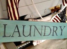 LAUNDRY sign by Homeroad on Etsy, $35.00