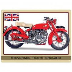 VINCENT TOURING RAPIDE Metal Wall Sign by Red Hot Lemon