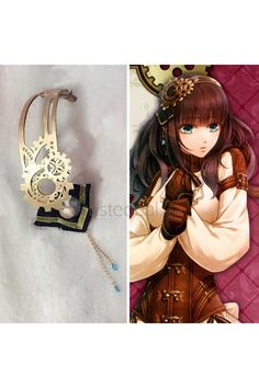 Code Realize Guardian of Rebirth Cardia Cosplay Hat Steampunk Headdress Accessories