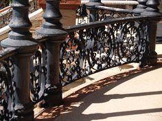 railing at bishops palace, galveston island, texas