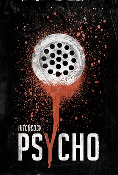 Alternate Psycho poster - This represents the bloody shower scene of Hitchcock's Psycho. This is one of the most iconic scenes in film history however, even if the film hadn't come out yet this would lay down enough mystery to bring the audience into theaters. Again, the one, very clear, image focuses us in and of course the blood dripping into the Y is a cool touch.