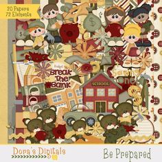 Tammy Tags Blog Train Post - November 2014, LDS, Be Prepared. Some great digital scrapbooking freebies!