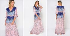 Looking for Maxi Dresses? Call off the search with our Wrap Maxi Dress In Pink & Blue Floral Print. Shop unique fashion at SilkFred Maxi Wrap Dress, Floral Maxi Dress, Summer Day Outfits, Print Wrap, Kimono Fashion, Wrap Style, Unique Fashion, Pink Blue, Outfit Of The Day