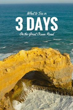 What to See in 3 Days on the Great Ocean Road (Victoria,, Australia) Melbourne To Adelaide, Melbourne Travel, Holiday Destinations, Travel Destinations, Scuba Diving Australia, Victoria Australia, Vacation Places, Australia Travel, Western Australia