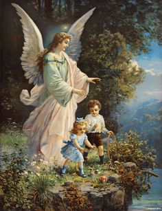 Guardian Angel - thank you for looking after me every day and every night. Angel of God, my guardian dear, to whom God's love commits m. Guardian Angel Images, Guardian Angels, I Believe In Angels, Ange Demon, Cross Stitch Pictures, Angels Among Us, Wow Art, Angel Art, Religious Art